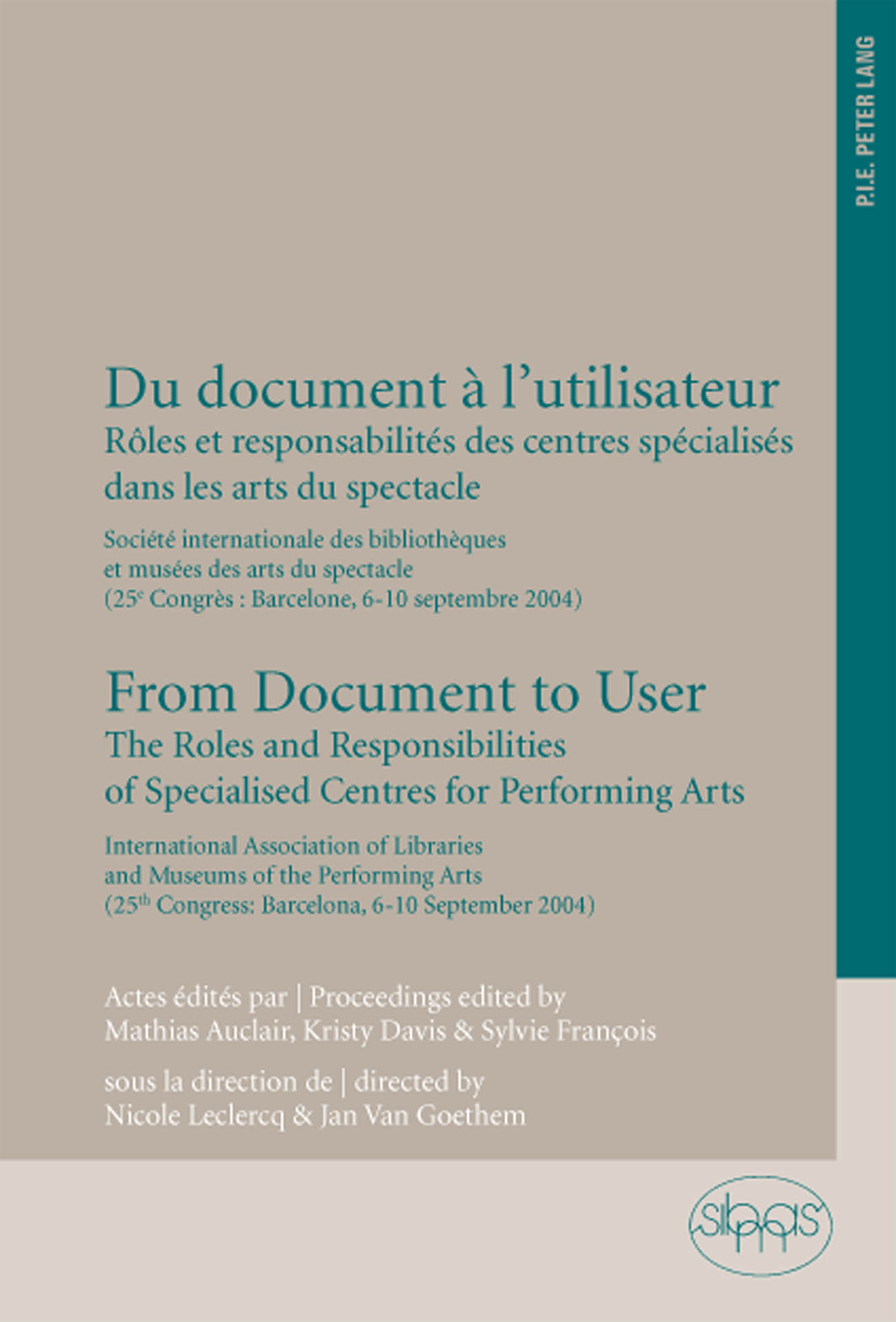 DU DOCUMENT A L'UTILISATEUR/FROM DOCUMENT TO USER