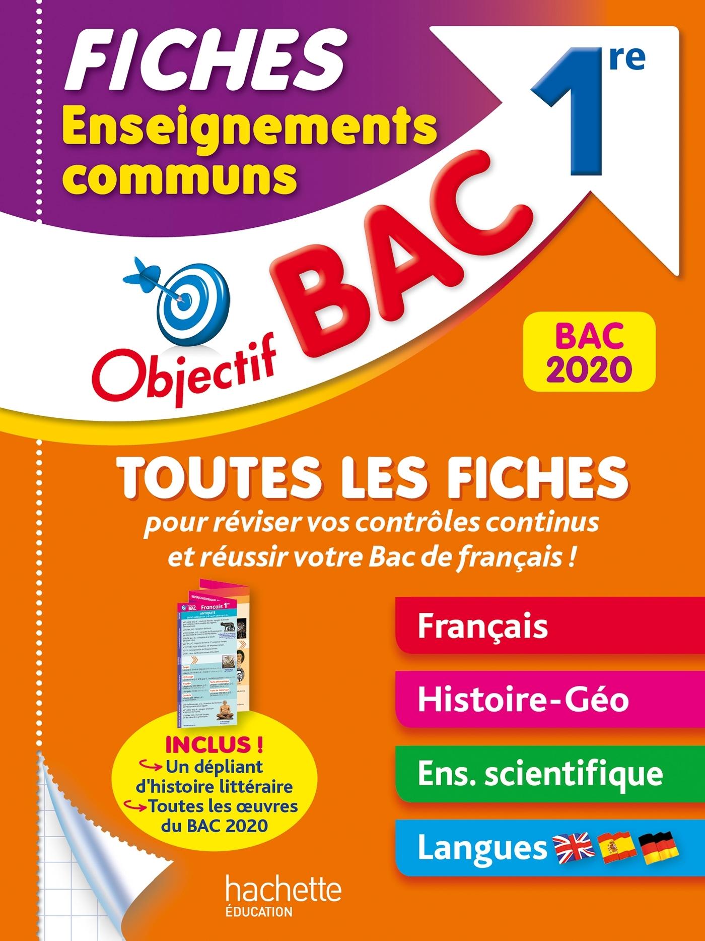 FICHES ENSEIGNEMENTS COMMUNS 1RE BAC 2020