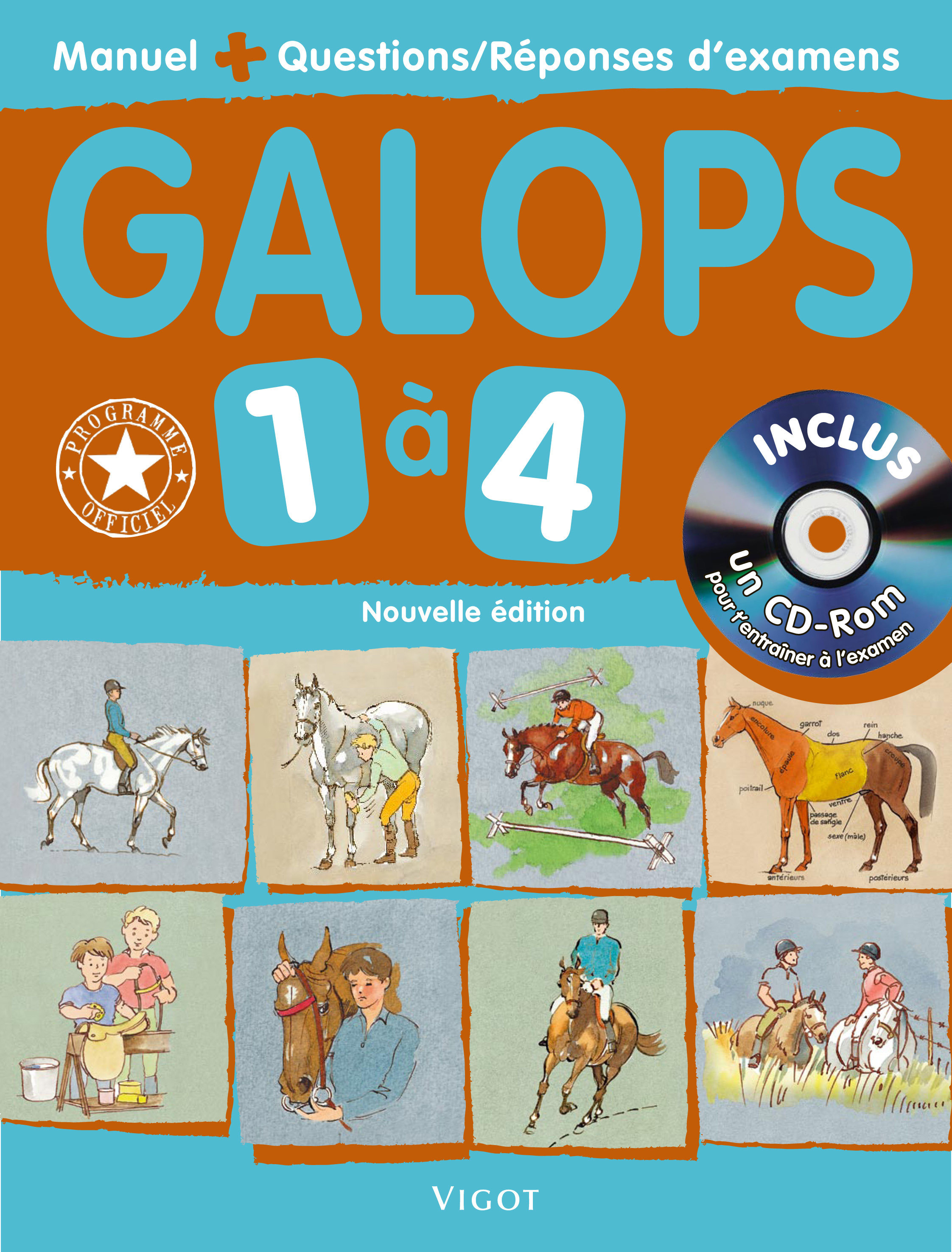 GALOPS 1 A 4 AVEC CD ROM