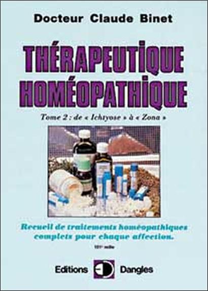 THERAPEUTIQUE HOMEOPATHIQUE T.2