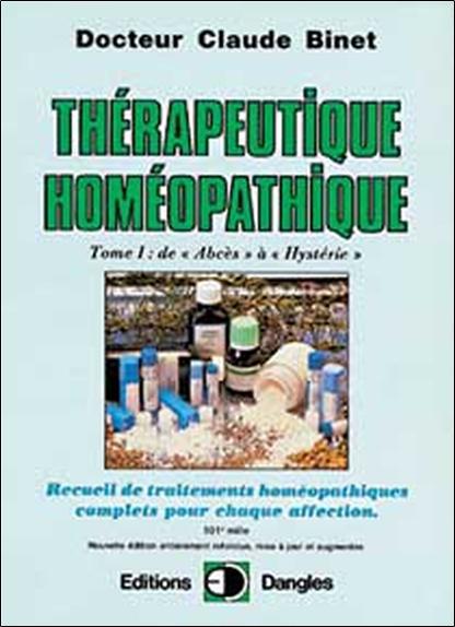 THERAPEUTIQUE HOMEOPATHIQUE T.1
