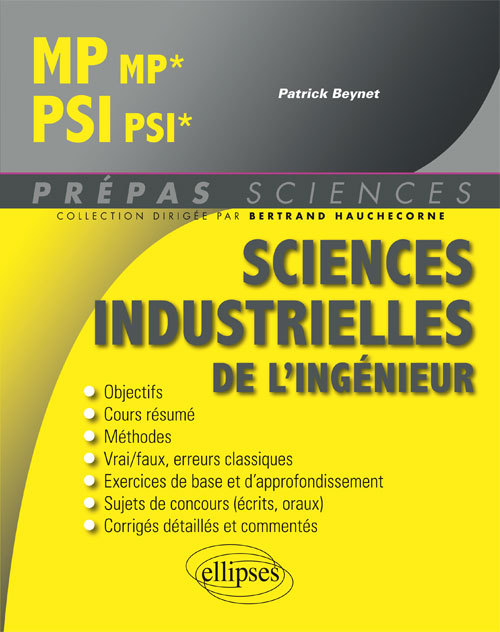 SCIENCES INDUSTRIELLES DE L'INGENIEUR MP/MP* - PSI/PSI*