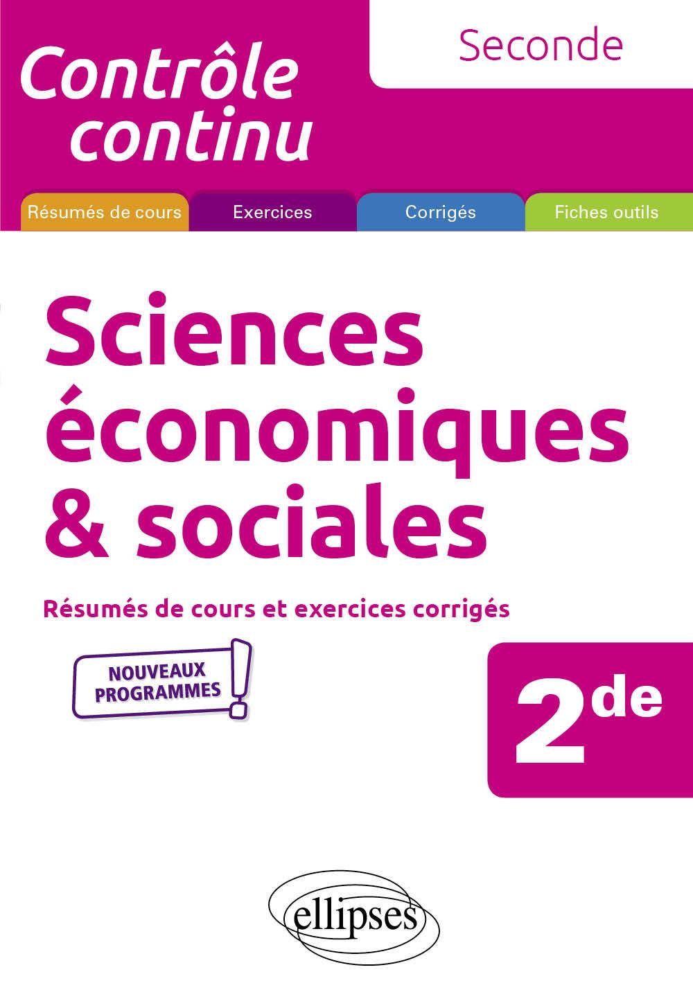 SCIENCES ECONOMIQUES ET SOCIALES - SECONDE - NOUVEAUX PROGRAMMES