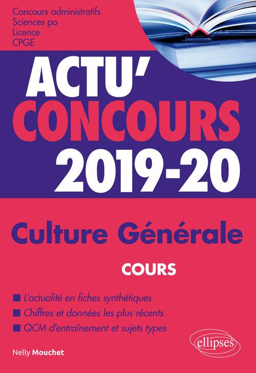 CULTURE GENERALE CONCOURS 2019-2020
