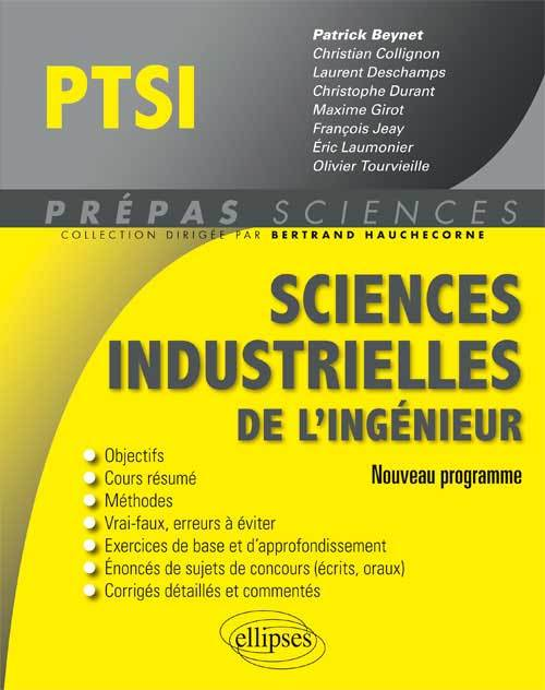 SCIENCES INDUSTRIELLES DE L'INGENIEUR PTSI PROGRAMME 2013