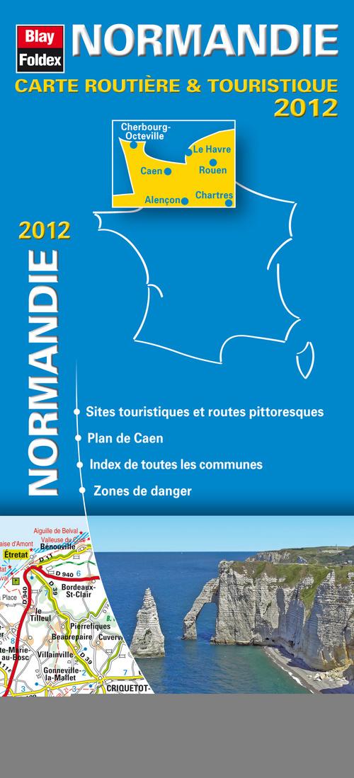 NORMANDIE 2012 - CARTE ROUTIERE ET TOURISTIQUE REGIONALE (103) - 1/200 000
