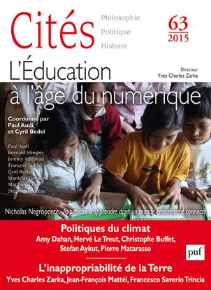 CITES 2015, N  63 - L'EDUCATION A L'AGE DU NUMERIQUE
