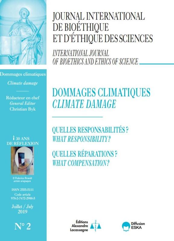 DOMMAGES CLIMATIQUES-JIB VOL 30 N 2-2019 - QUELLES RESPONSABILITES ? QUELLES REPARATIONS ?