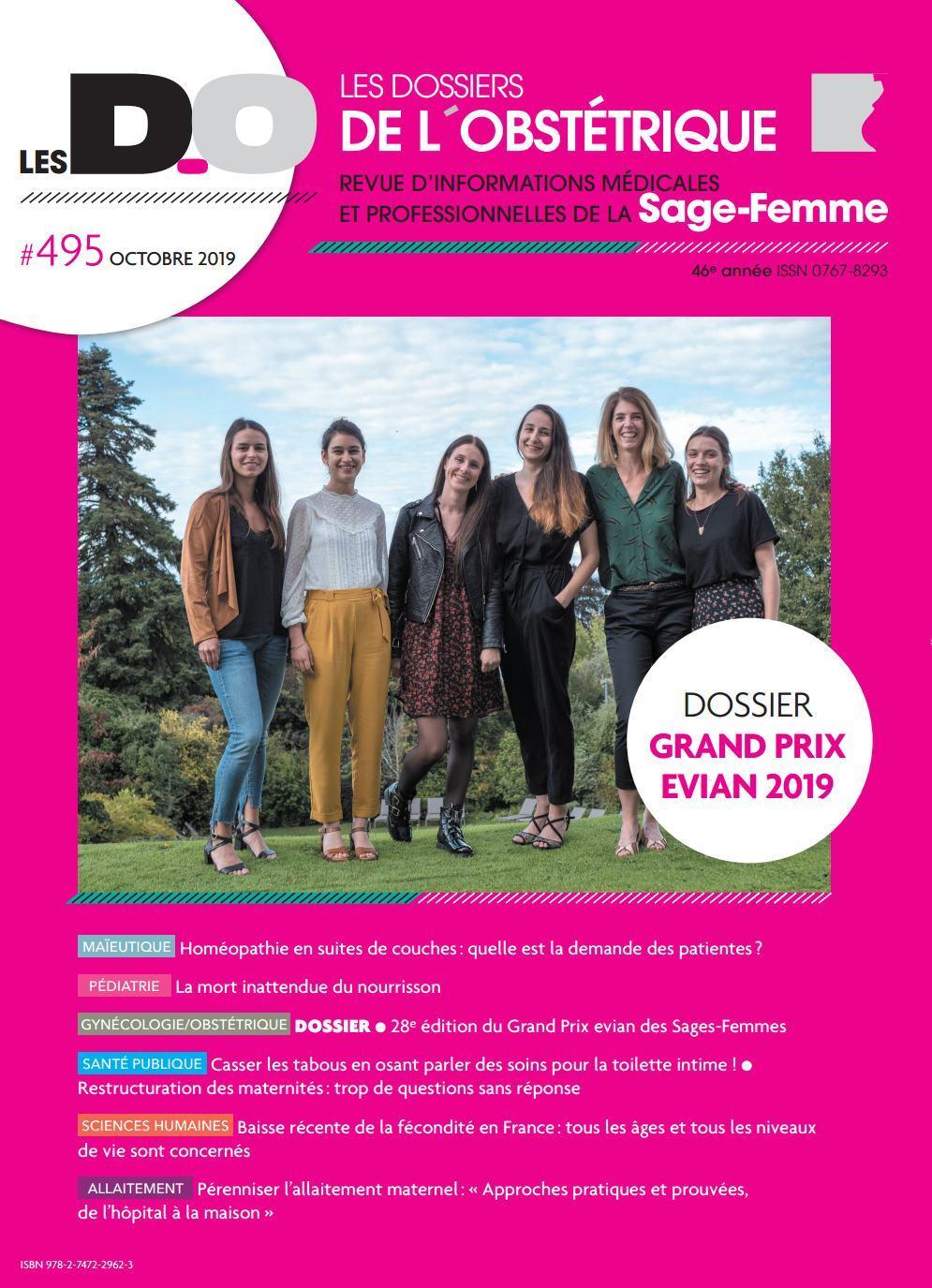 GRAND PRIX EVIAN 2019-DO 495-NOVEMBRE 2019 - LES DOSSIERS DE L'OBSTETRIQUE 495 NOVEMBRE 2019