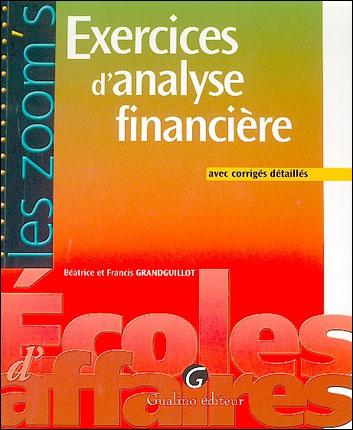 ZOOM'S EXER.  CORRIGES D'ANALYSE FINANCIERE