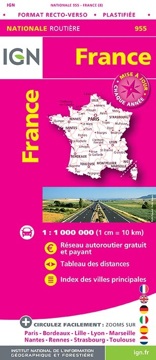 1M955 FRANCE ROUTIERE MAXI FORMAT PLASTIFIEE 2019