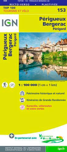 TOP100153 PERIGUEUX / BERGERAC  1/100.000