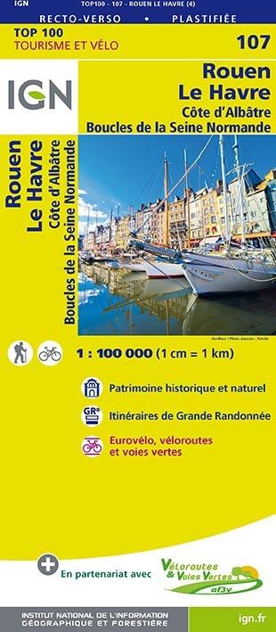 TOP100107 ROUEN/LE HAVRE  1/100.000