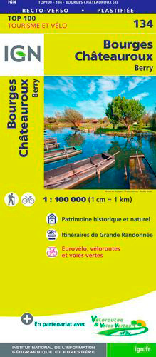 TOP100134 BOURGES / CHATEAUROUX  1/100.000
