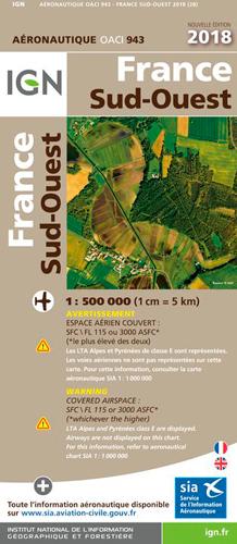 OACI943 FRANCE SUD-OUEST 2018 1/500.000