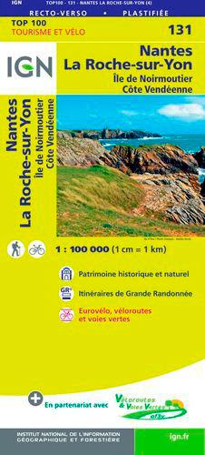 TOP100131 NANTES / LA-ROCHE-SUR-YON  1/100.000