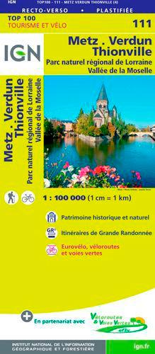 TOP100111 METZ / VERDUN / LUXEMBOURG  1/100.000