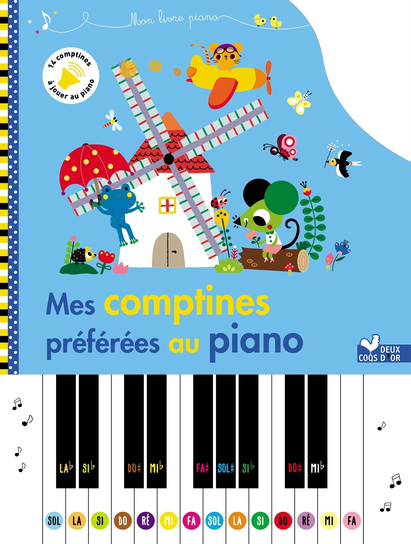 MES COMPTINES PREFEREES AU PIANO - LIVRE PIANO