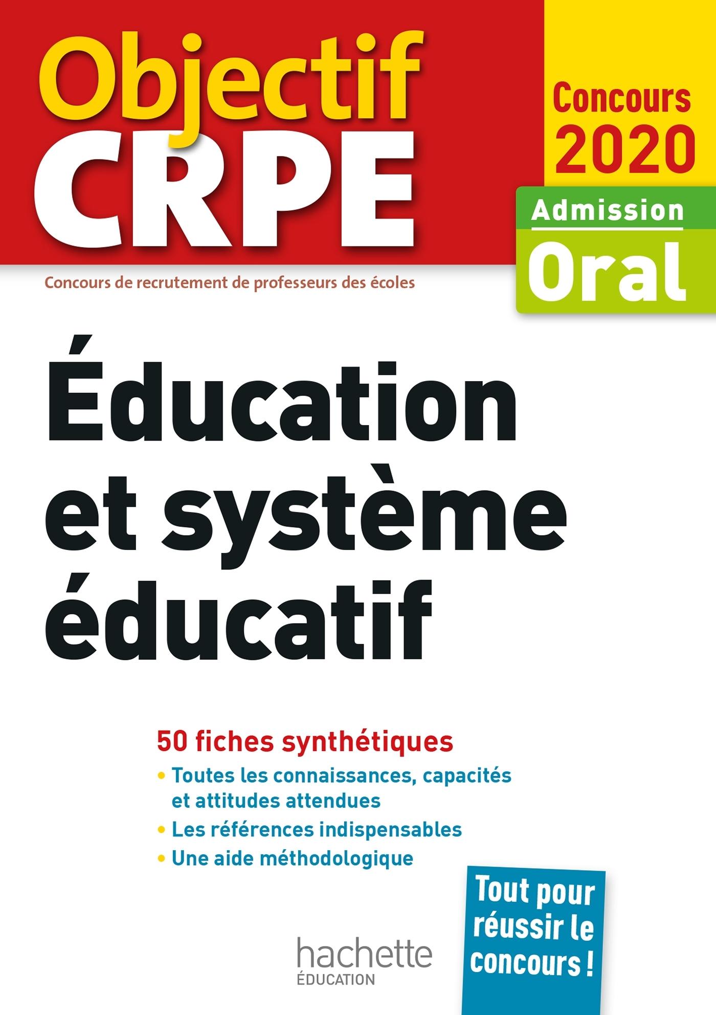 CRPE EN FICHES : EDUCATION ET SYSTEME EDUCATIF 2020