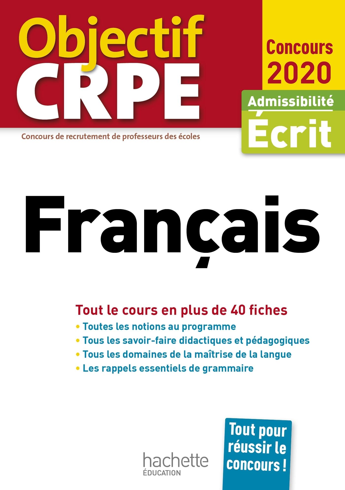 OBJECTIF CRPE EN FICHES FRANCAIS 2020