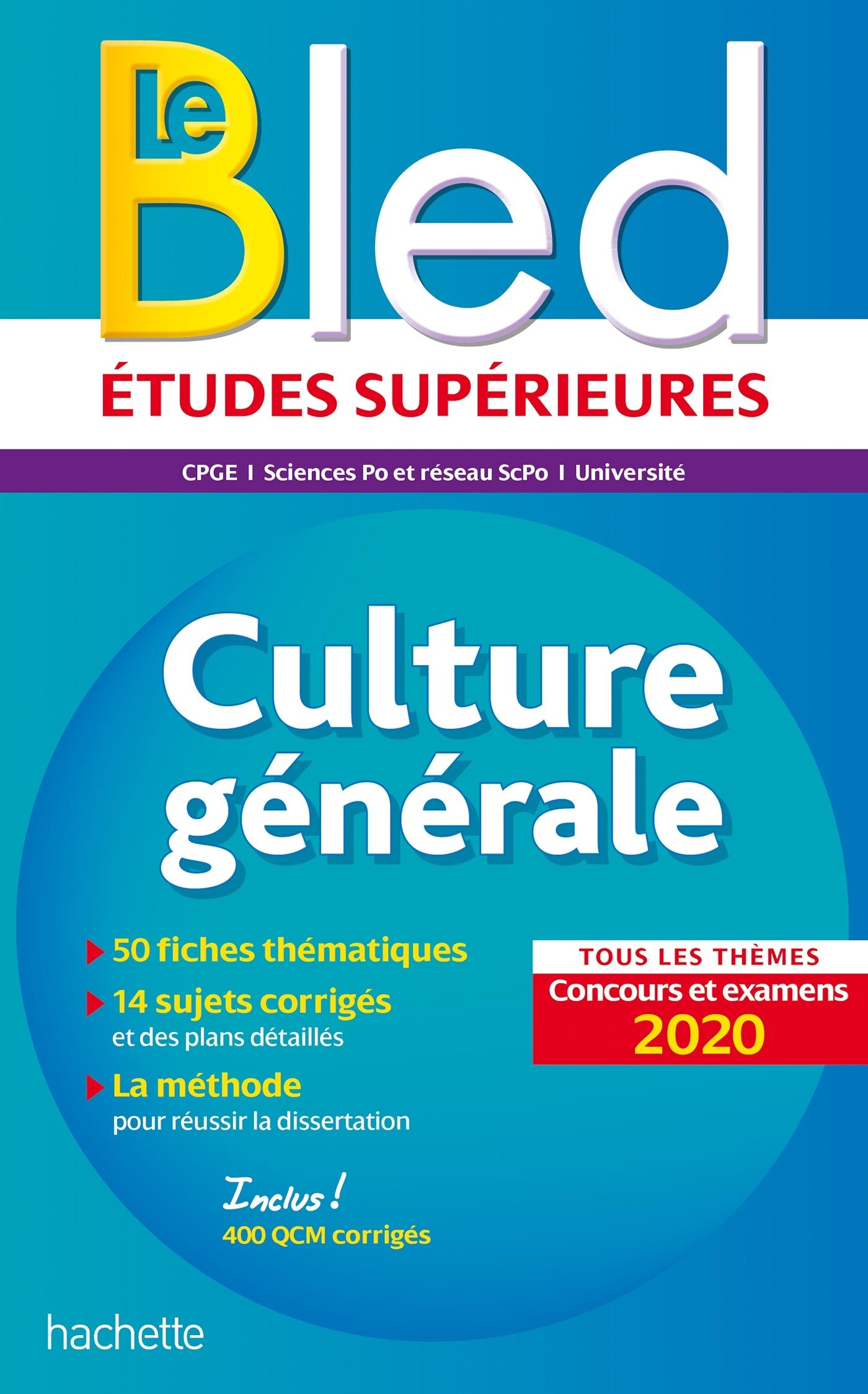 BLED CULTURE GENERALE, EXAMENS ET CONCOURS 2020