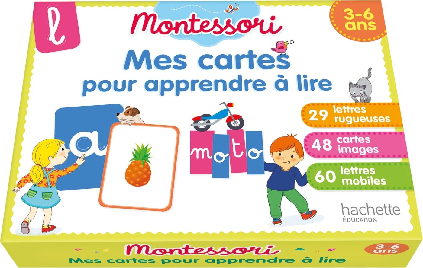 MONTESSORI MES CARTES POUR APPRENDRE A LIRE 3-6 ANS
