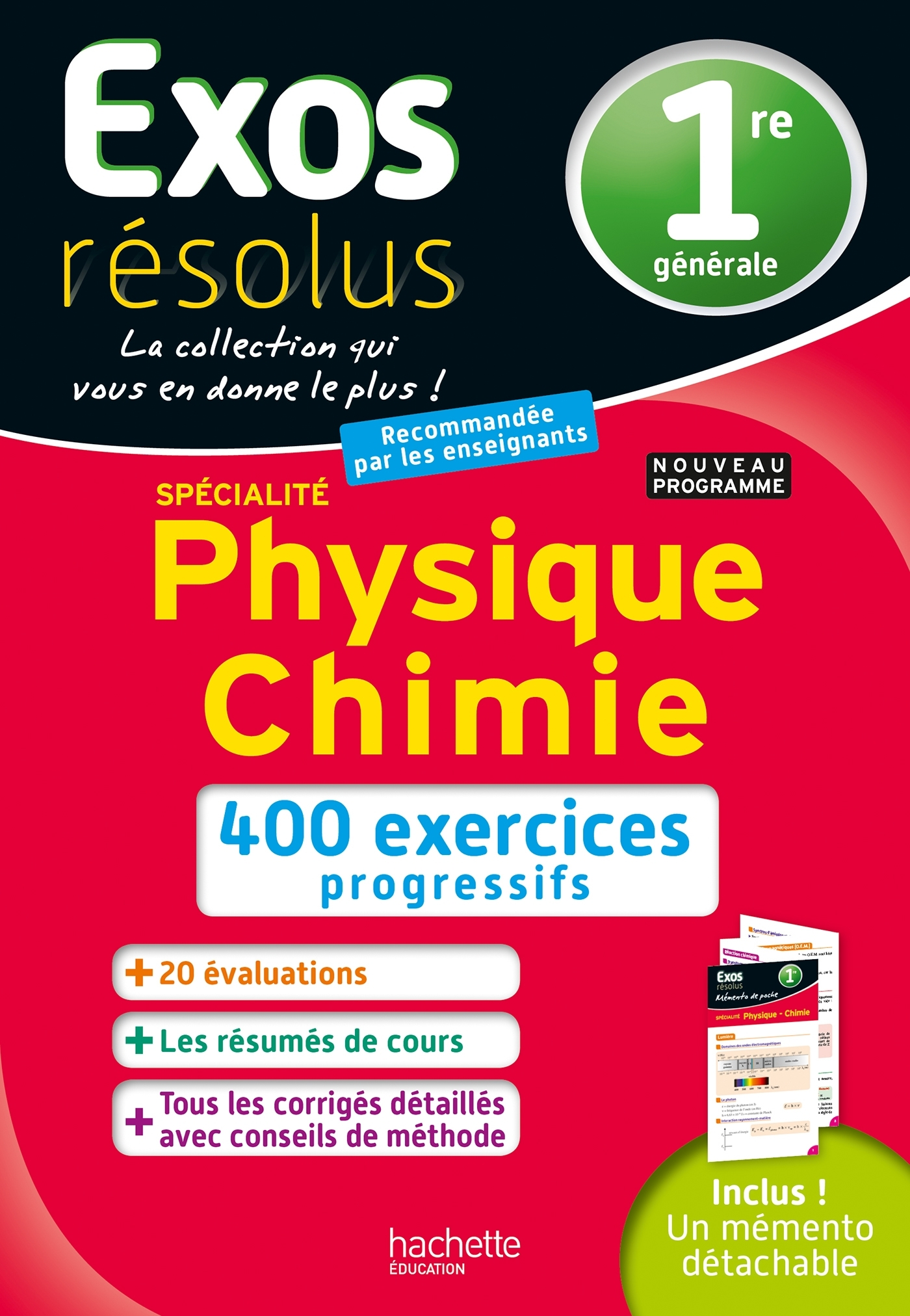 EXOS RESOLUS SPECIALITE PHYSIQUE-CHIMIE 1RE