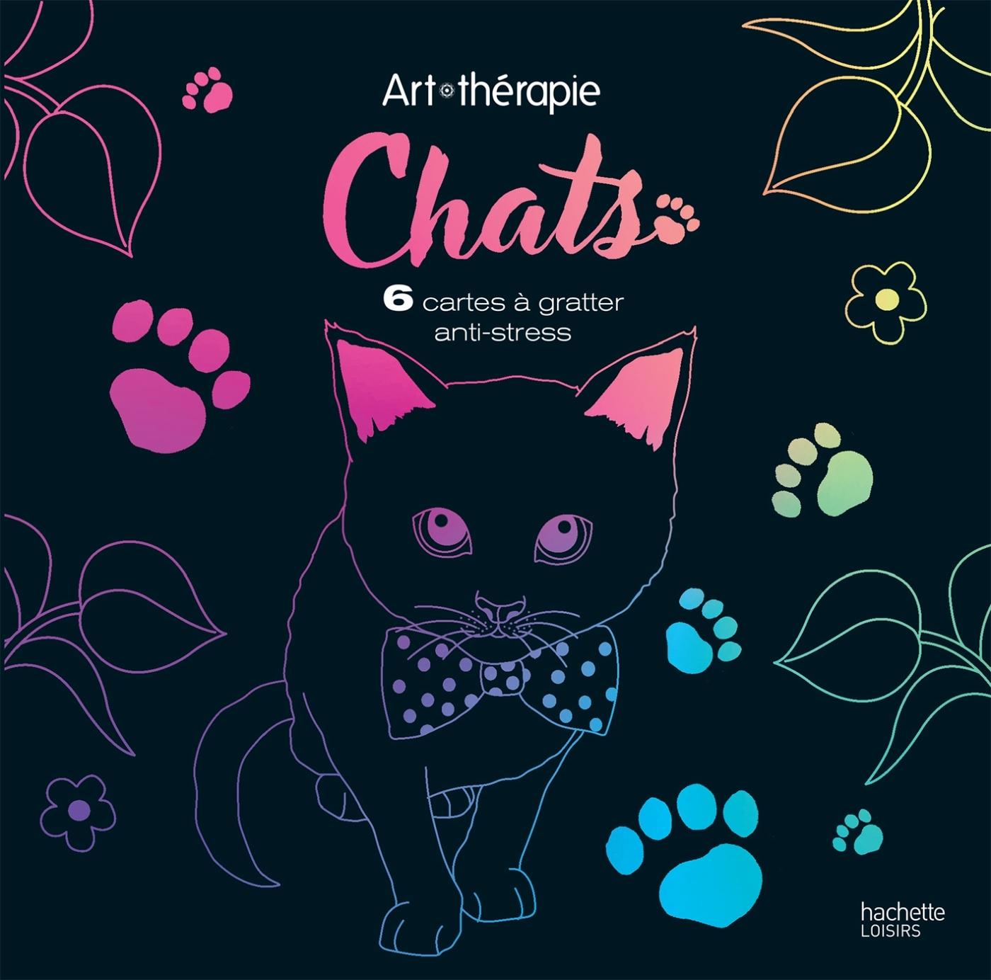 CHATS - 6 CARTES A GRATTER ANTI-STRESS