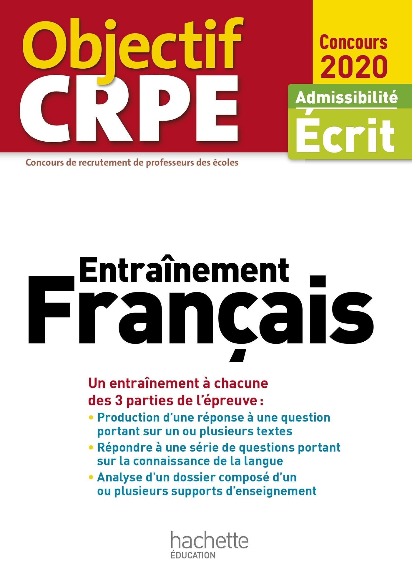 OBJECTIF CRPE ENTRAINEMENT EN FRANCAIS 2020