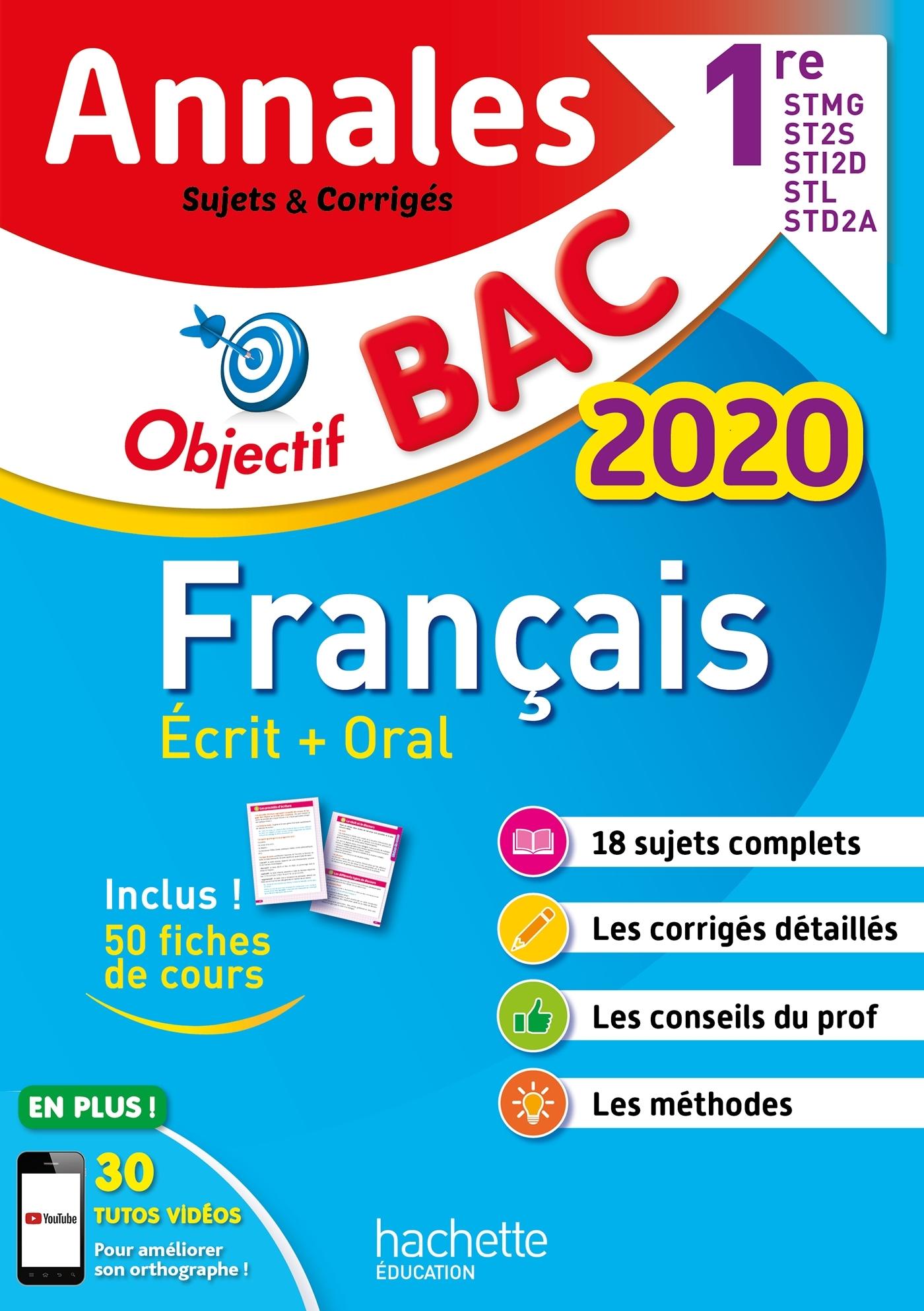 ANNALES BAC 2020 FRANCAIS 1ERES TECHNO