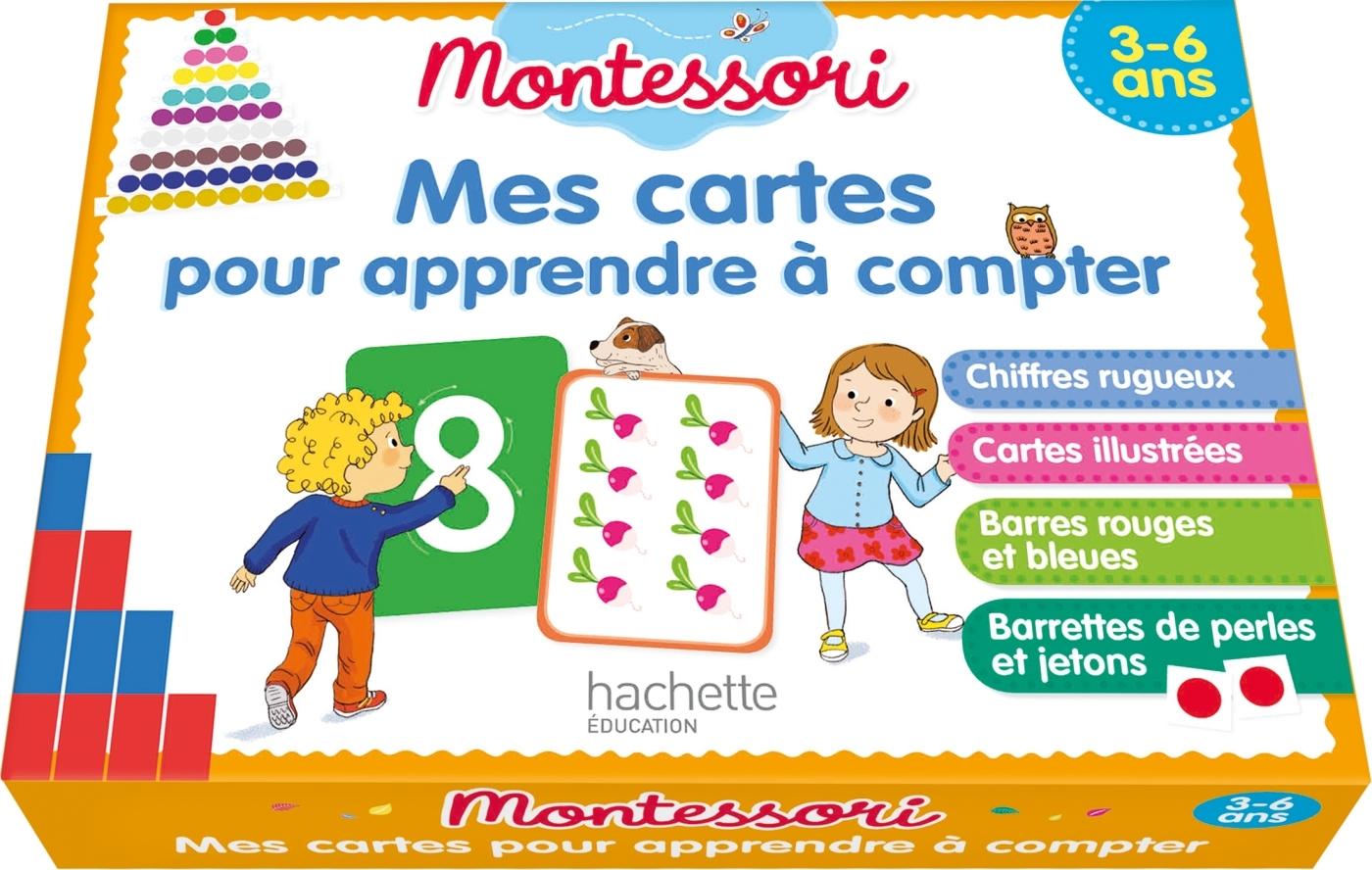 MONTESSORI MES CARTES POUR APPRENDRE A COMPTER 3-6 ANS