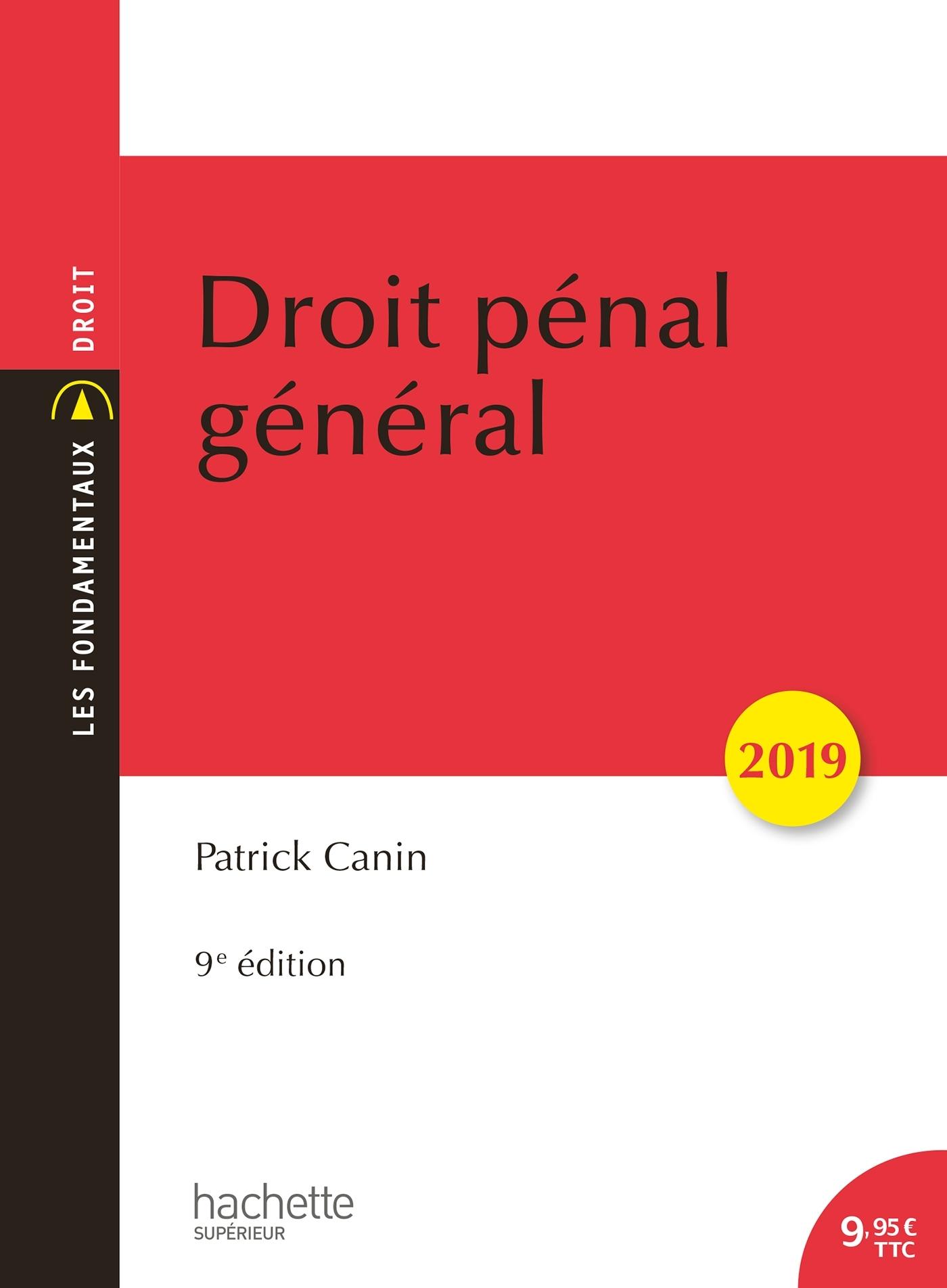 DROIT PENAL GENERAL 2019 (9E EDITION)