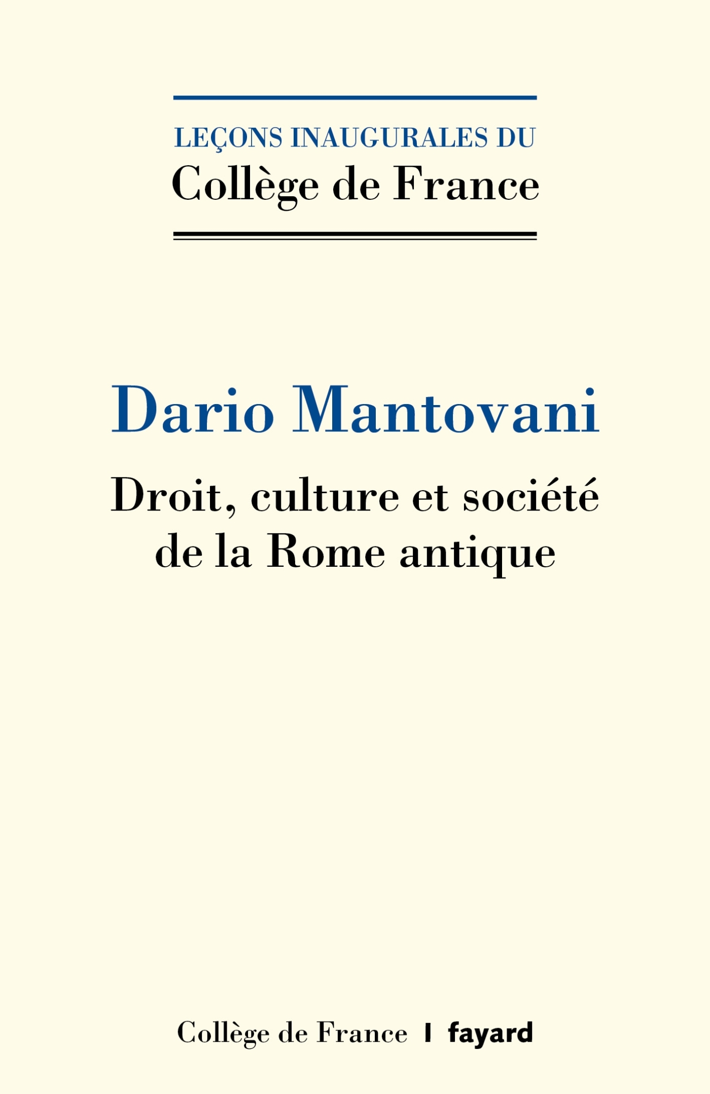DROIT, CULTURE ET SOCIETE DE LA ROME ANTIQUE