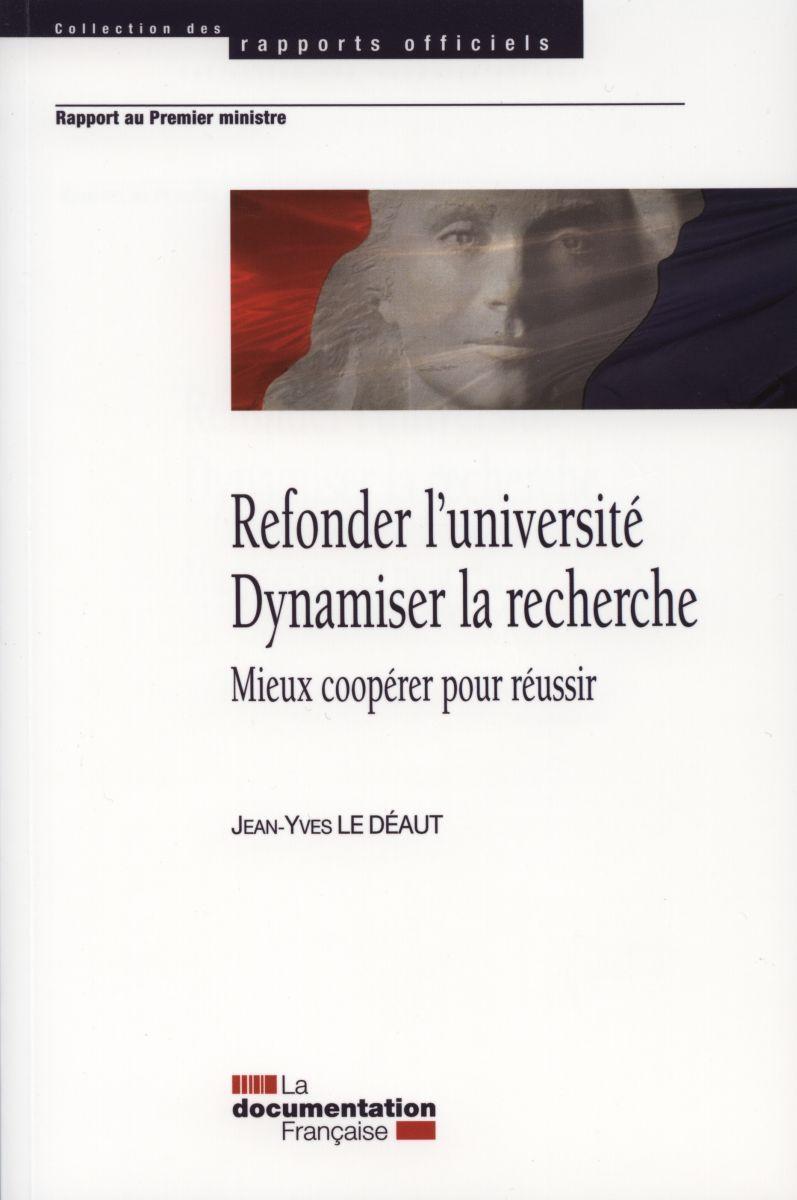 REFONDER L'UNIVERSITE - DYNAMISER LA RECHERCHE
