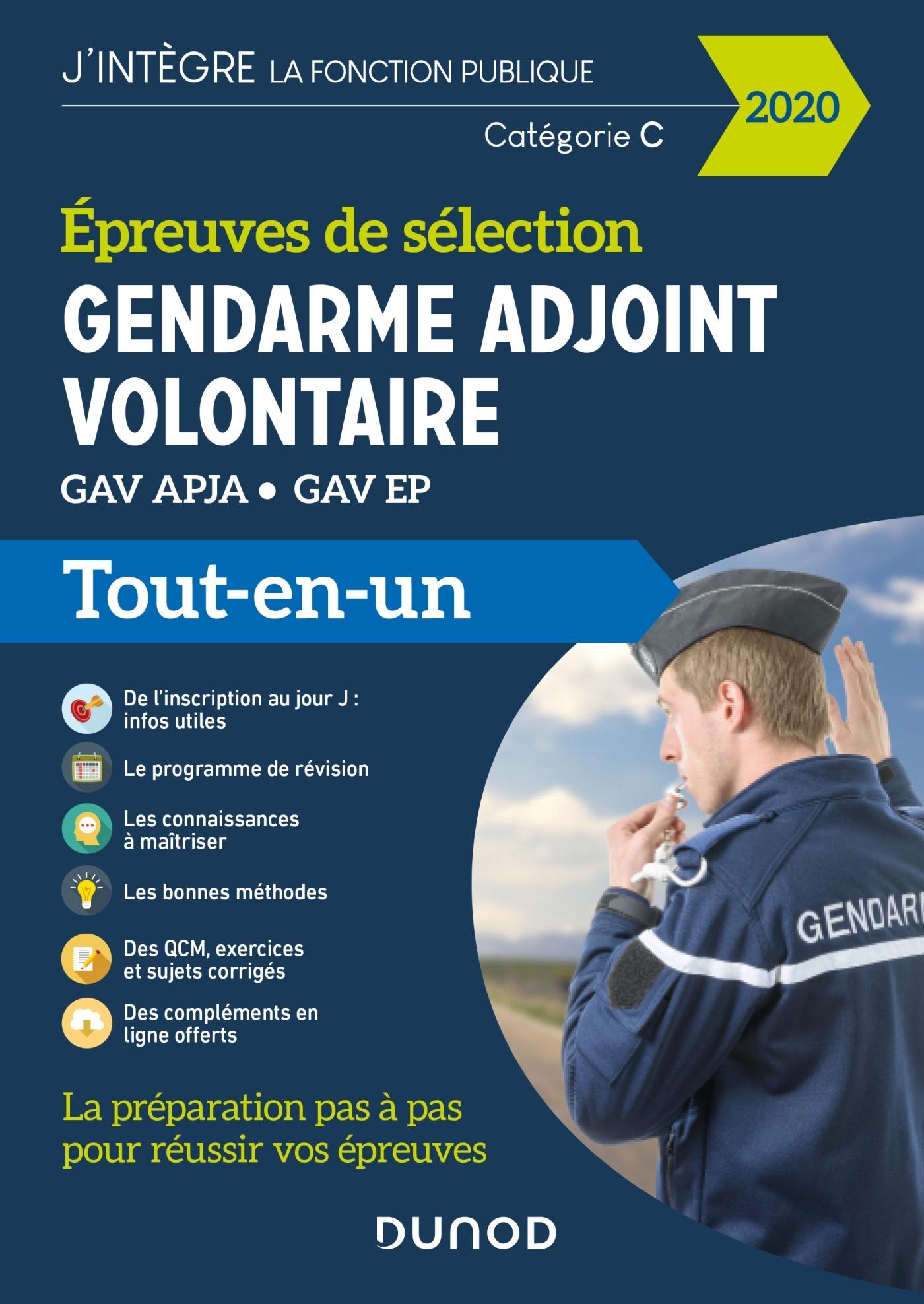 GENDARME ADJOINT VOLONTAIRE - 2020 - EPREUVES DE SELECTION GAV APJA - EP - TOUT EN UN - EPREUVES DE