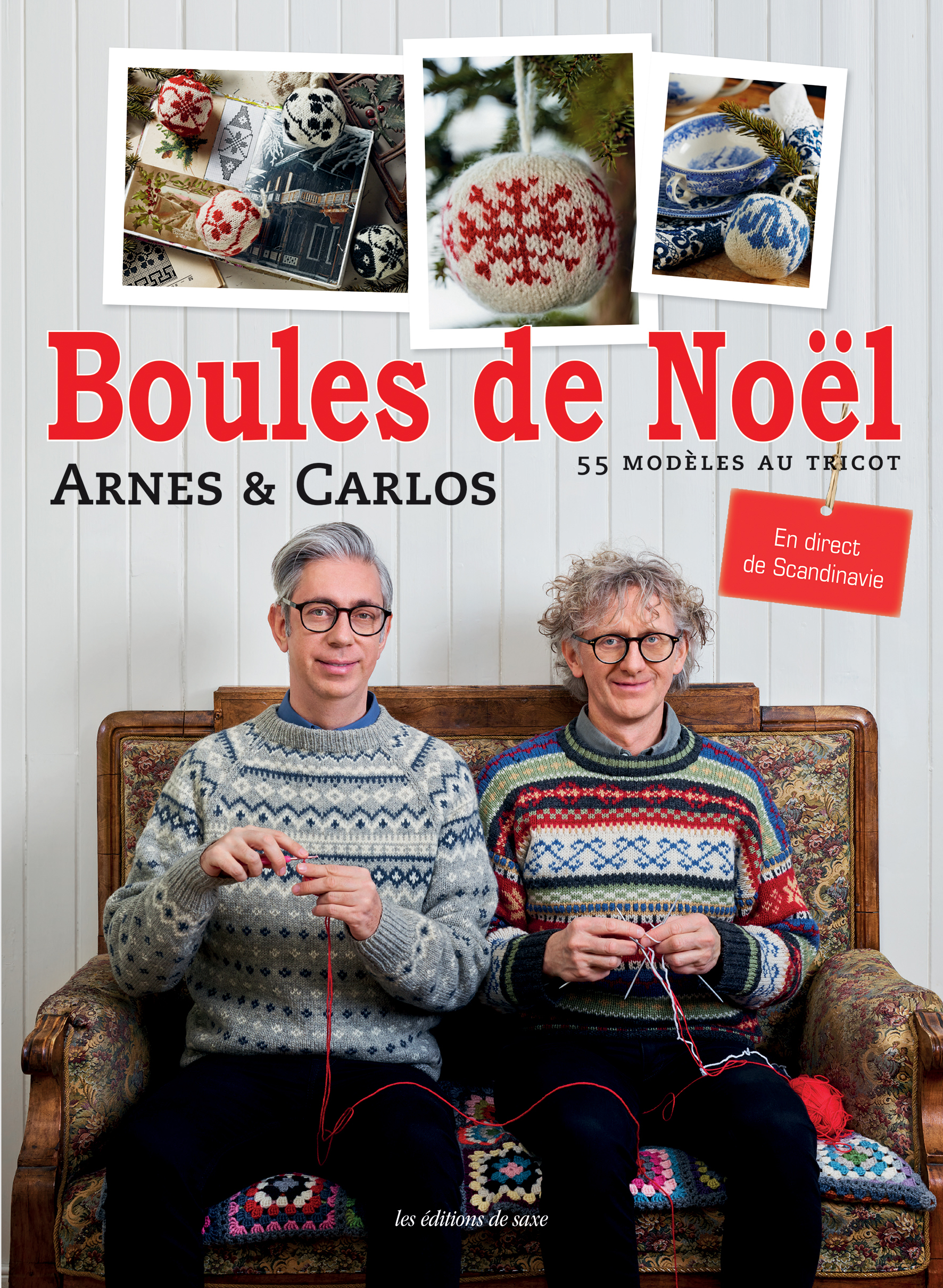 LES BOULES DE NOEL - 55 MODELES AU TRICOT