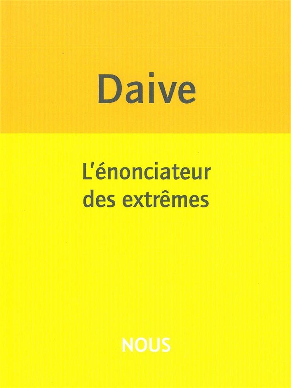 L' ENONCIATEUR DES EXTREMES