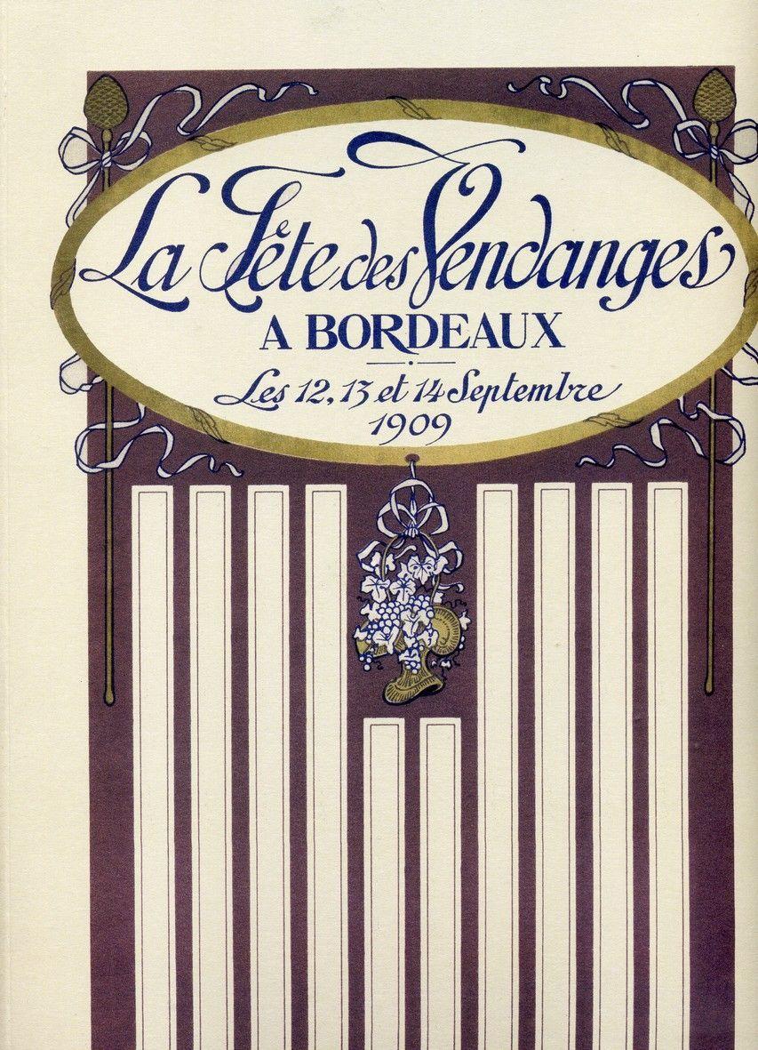 LA FETE DES VENDANGES A BORDEAUX EN 1909