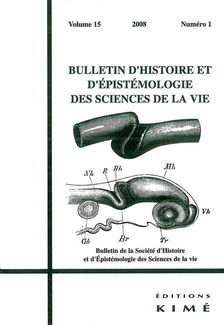 BULLETIN D'HISTOIRE ET D'EPISTEMOLOGIE DES SCIENCES DE