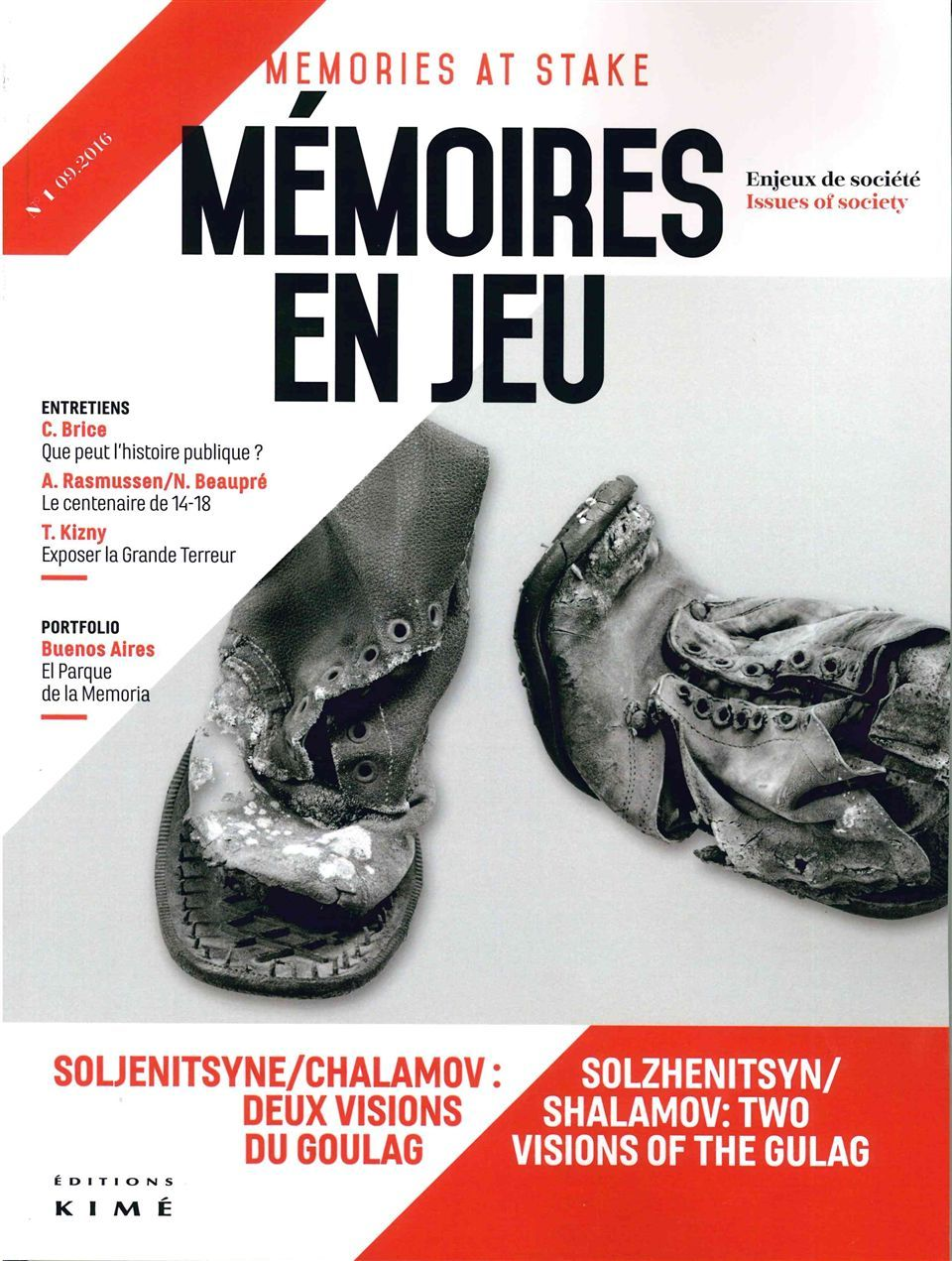 MEMOIRES EN JEU N 1 - SOLJENITSYNE VERSUS CHALAMOV