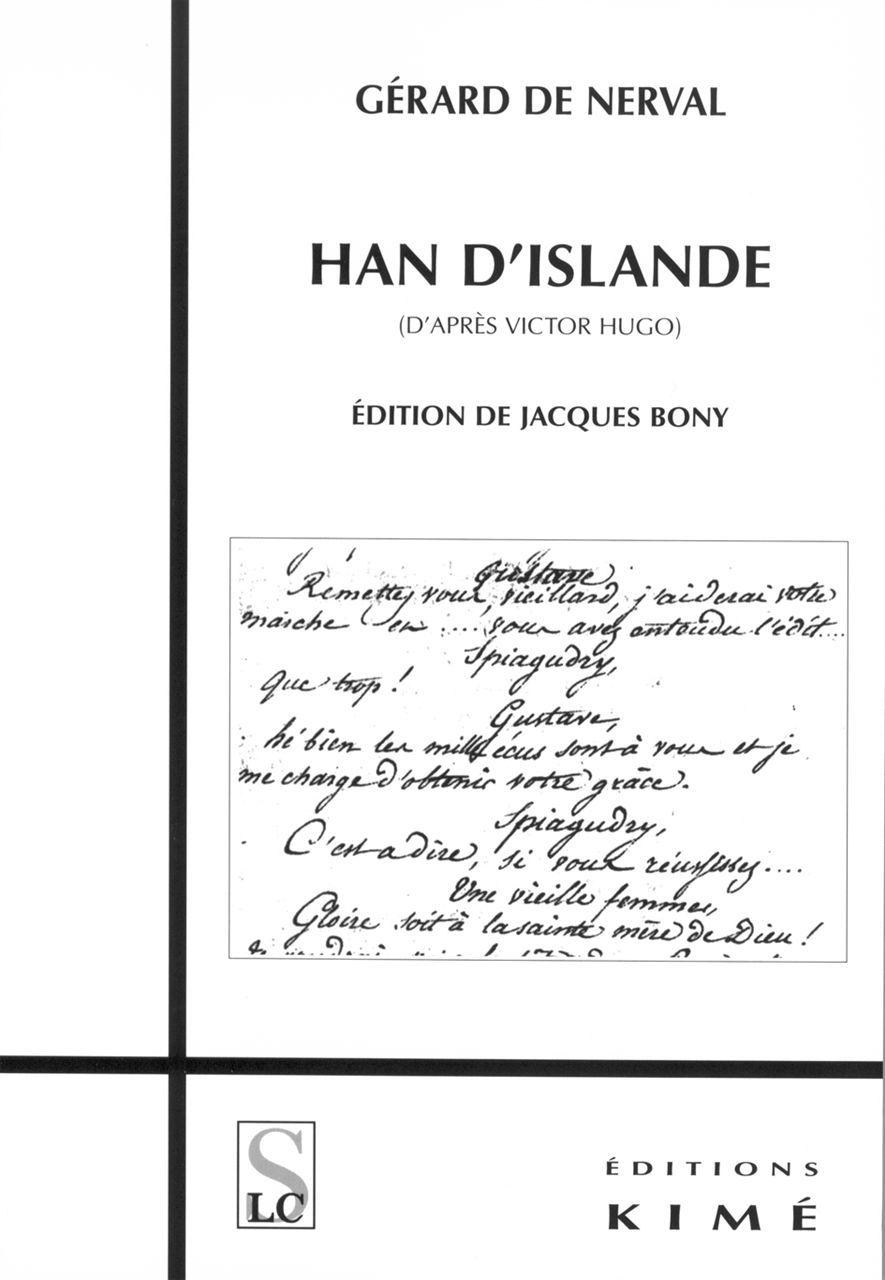 HAN D'ISLANDE - EDITION ETABLIE PAR JACQUES BONY