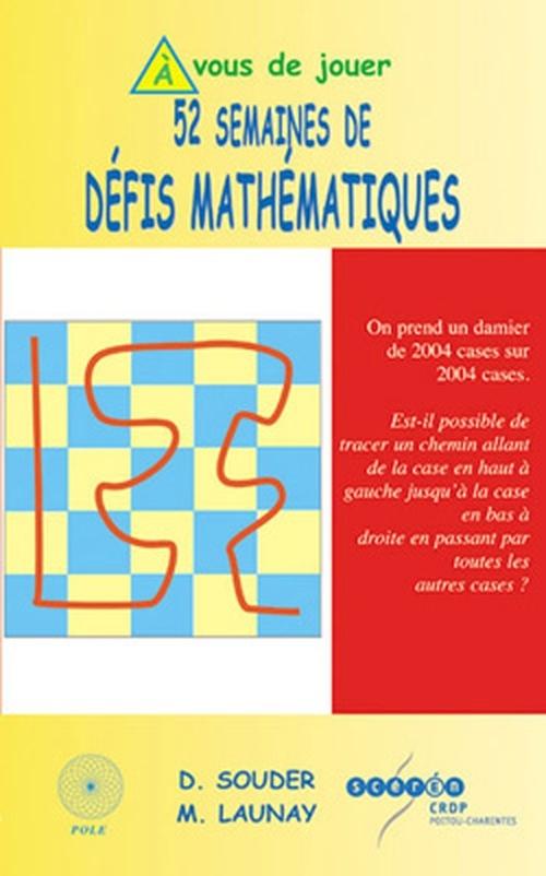 52 SEMAINES DE DEFIS MATHEMATIQUES