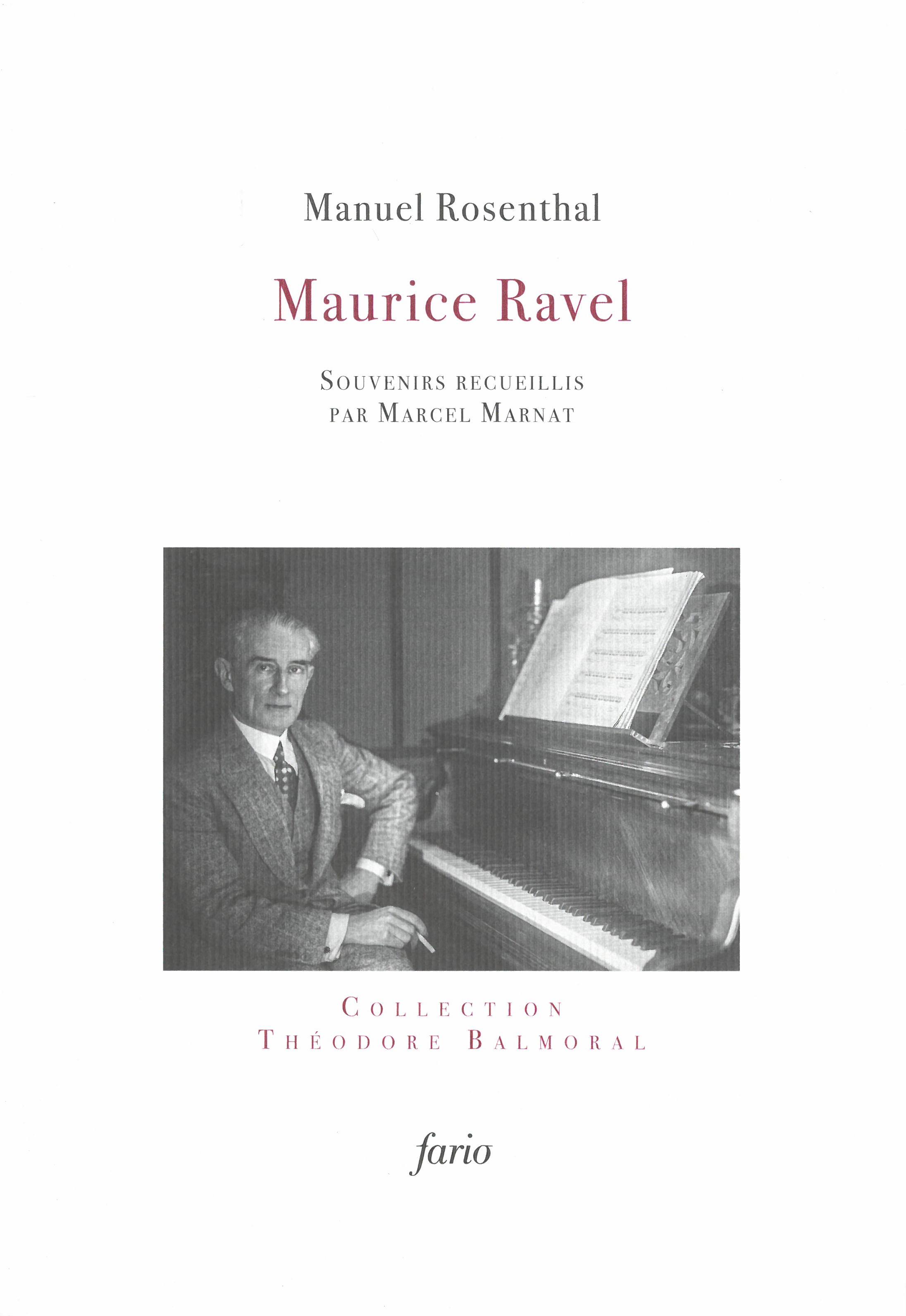 MAURICE RAVEL - SOUVENIRS RECUEILLIS L