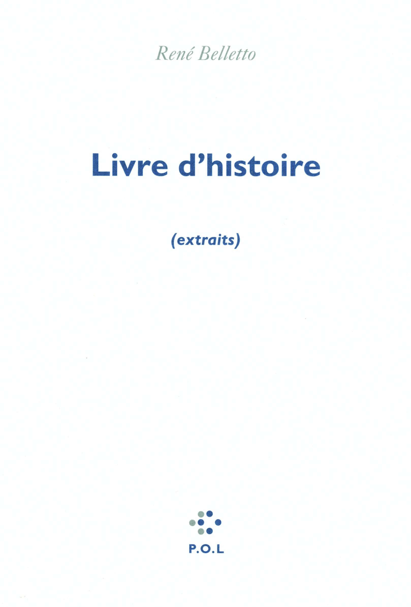 LIVRE D'HISTOIRE - (EXTRAITS)