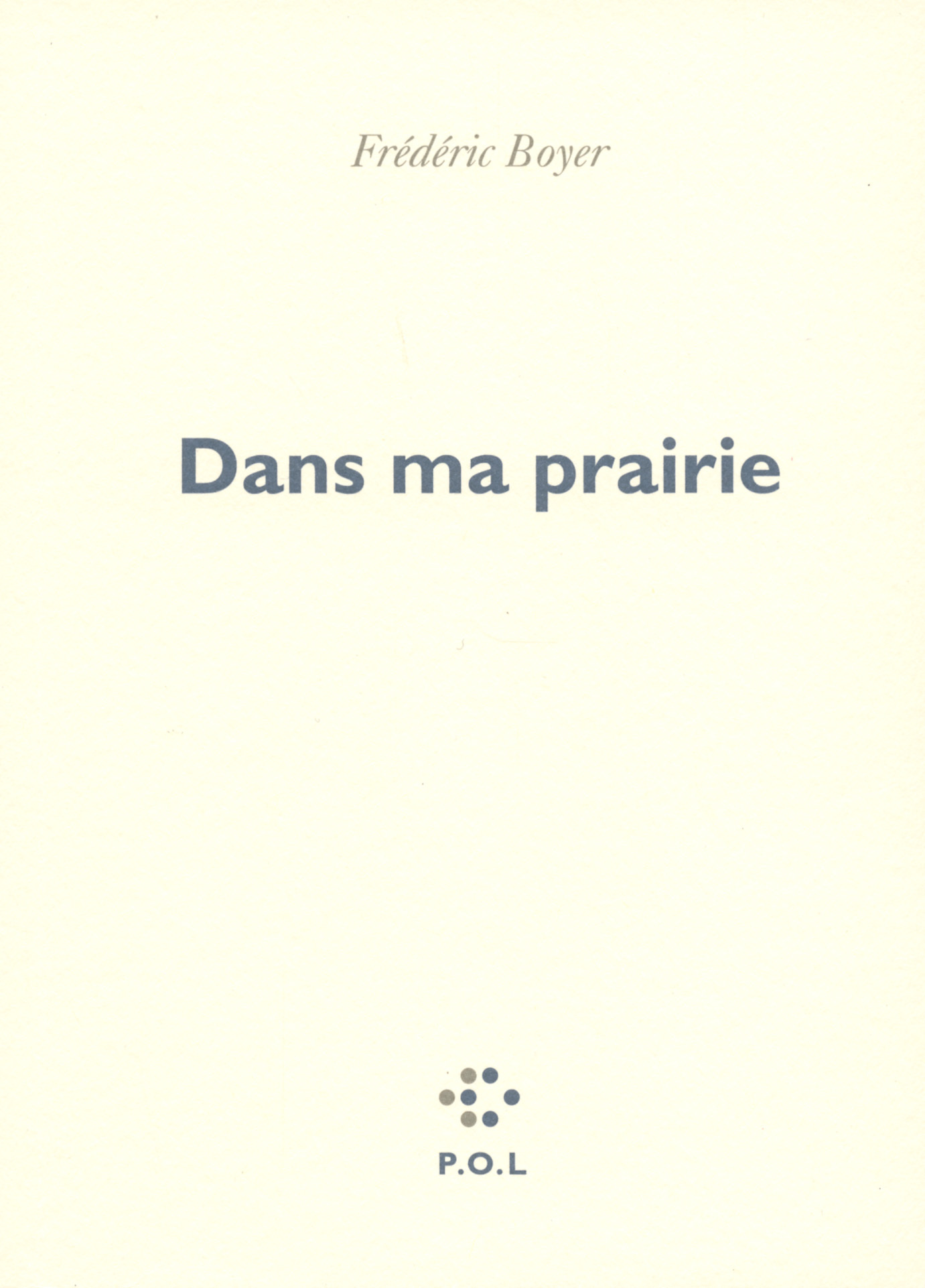DANS MA PRAIRIE - WESTERN