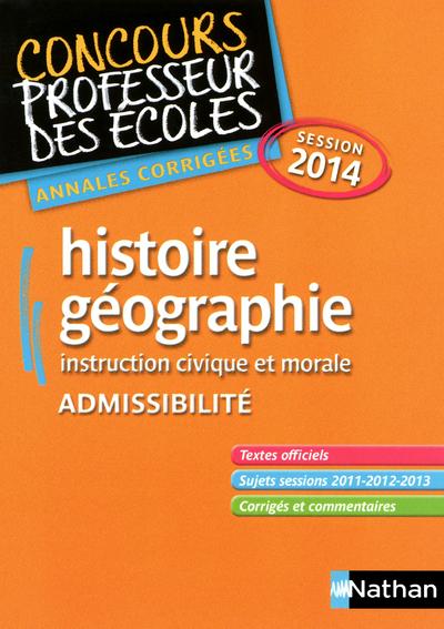 HISTOIRE GEO ADMISSIBILI 2014