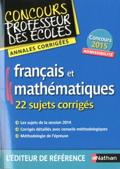 FRANCAIS ET MATH ANNALES CORRI
