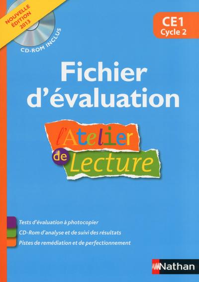 ATELIER LECTURE - FICHIER D'EVALUATION + CD CE1 - NOUVELLE EDITION