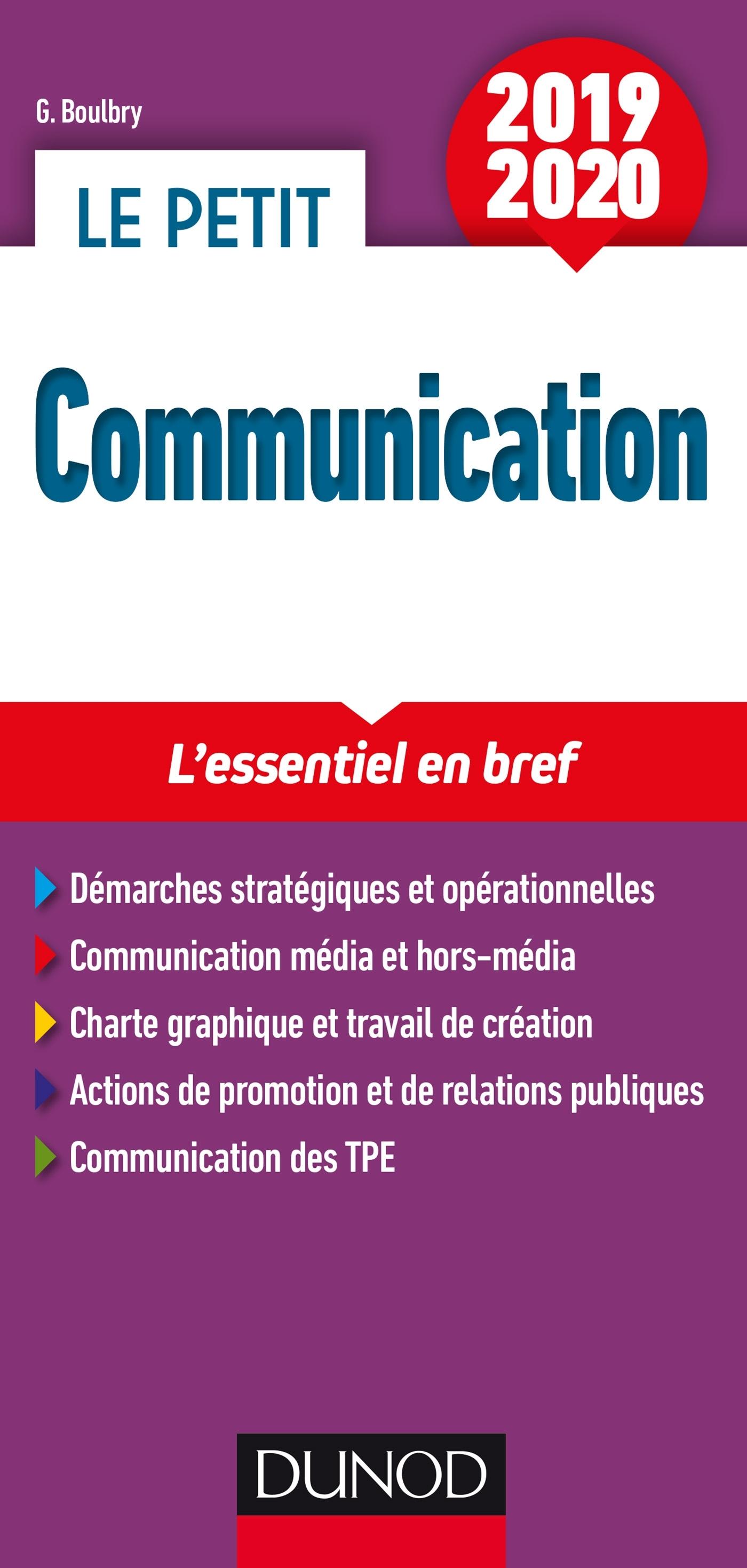 LE PETIT COMMUNICATION 2019/2020 - L'ESSENTIEL EN BREF