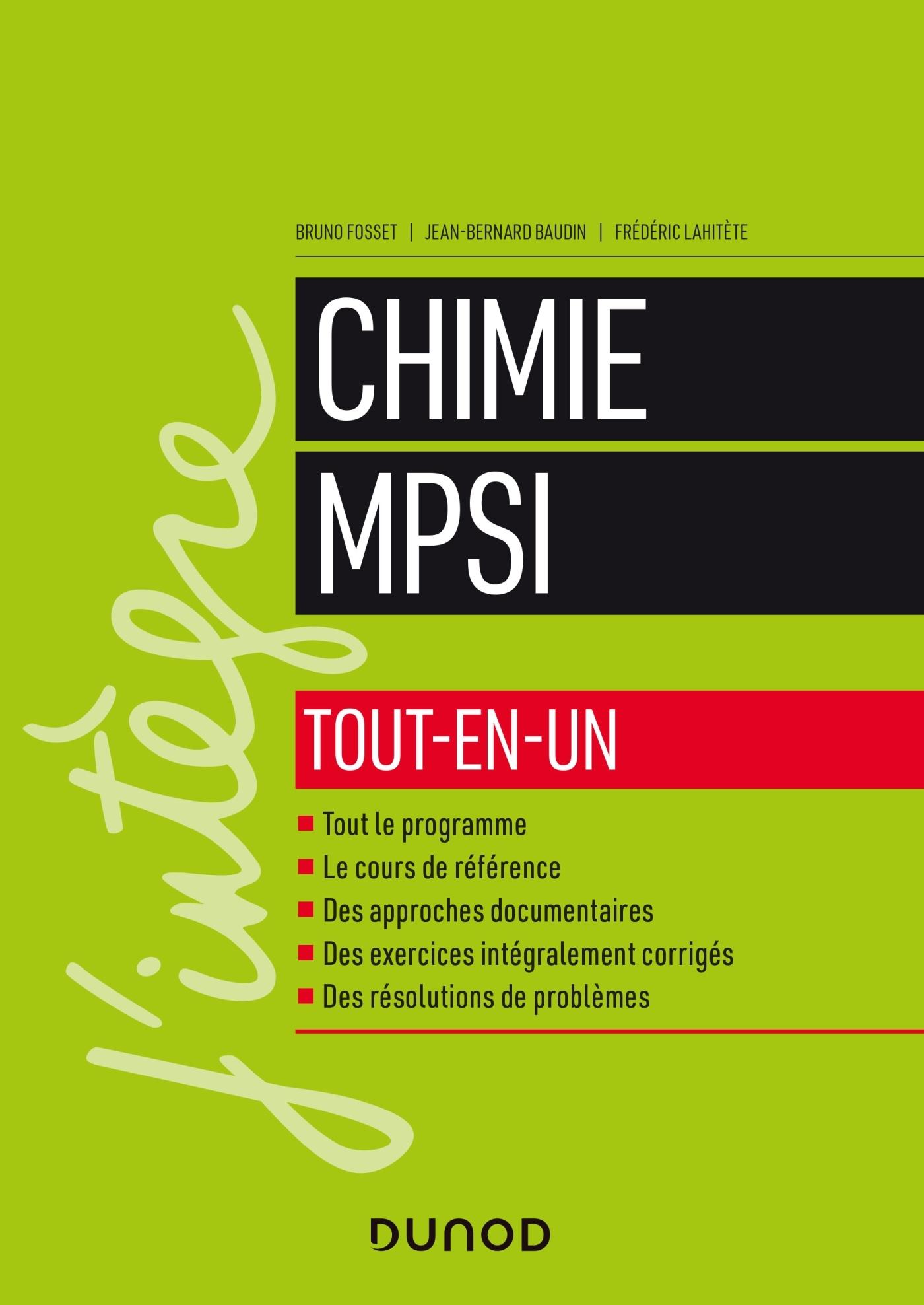 CHIMIE TOUT-EN-UN MPSI